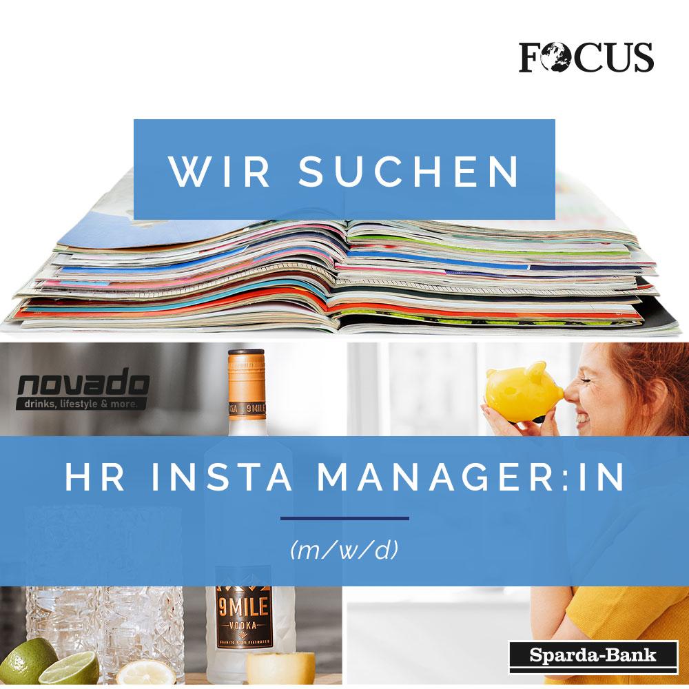 Stellenanzeige Insta Manager-in